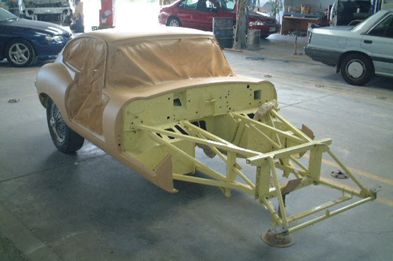 Jaguar -etype -chassis -assembly